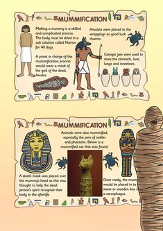 KS2 Ancient Egypt- Mummification Posters