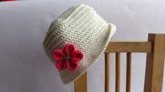 Chapeau d'été pour bébé fille, réalisé au crochet, 100% coton biologique, moderne, chic et original, taille 12 mois. : Mode Bébé par bbgreen