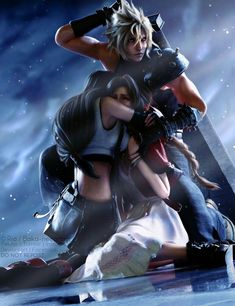 Final Fantasy Cloud, Final Fantasy Vii Remake, Final Fantasy Girls, Final Fantasy Artwork, Final Fantasy Characters, Fantasy Art Women, Fantasy Series, Cloud And Tifa, Cloud Strife