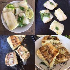 Dos de cabillaud mariné à la plancha. Le dos de cabillaud est un poisson ferme qui est très pratique de cuisiner à la plancha.