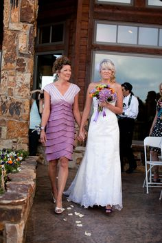 Purple Mother of the Bride dress.
