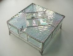 Colossal Stained Glass Box Large and Sparkling by KeiberGlass