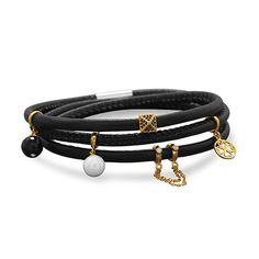 Triple Wrap Leather Bracelet   Bijou Boutik