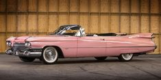 "Though Cadillac never offered pink as a factory option in 1959, that hasn't kept pink 1959 Cadillac convertibles from becoming iconic expressions of postwar American exuberance, nor has it kept Hollywood filmmakers from perennially featuring them. This Cadillac was the star of Clint Eastwood's 1989 flick, ""Pink Cadillac"" and recently sold at auction for over $83,000."
