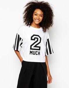 Monki - 2 Much - T-shirt