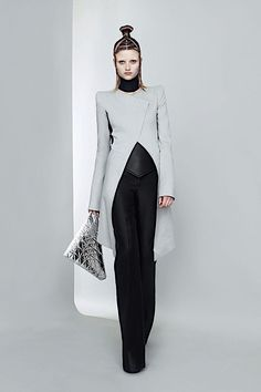 Gareth Pugh--this with lose flowing hair. contrast