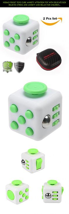 Hobao Fidget Toys Cube Anxiety Attention Toy With Delicate Box Relieves Stress and Anxiety and Relax for Children and Adults (White green) #shopping #parts #fpv #kit #camera #racing #keychain #plans #holder #tech #cube #gadgets #technology #fidget #products #drone