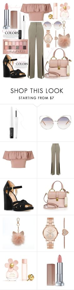 """Candy 🍬"" by karilooks ❤ liked on Polyvore featuring MAKE UP FOR EVER, Marc Jacobs, Miss Selfridge, Michael Kors, Miu Miu, LC Lauren Conrad and Maybelline"