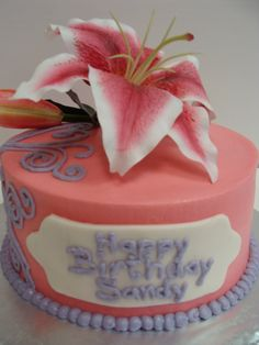Pink Lily Cake.