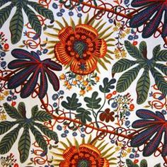another scandinavian printed textile. perfect for an oversized pillow to brighten the gloomiest of winter mornings