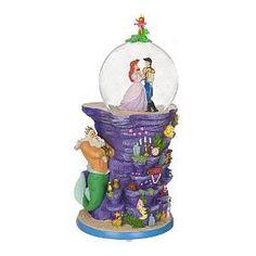 Ariel & Prince Eric Dancing Pedestal Snowglobe