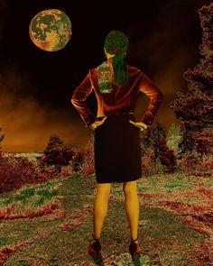 The green side of the moon. 2020 Jarmo Leppinen My Arts, Moon, Green, Artwork, The Moon, Work Of Art, Auguste Rodin Artwork, Artworks, Illustrators