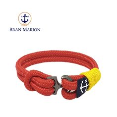Aodh Nautical Bracelet by Bran Marion Nautical Bracelet, Nautical Rope, Nautical Jewelry, Red And Yellow Make, Blue And White, Everyday Look, Everyday Fashion, Marine Rope, Azul Real