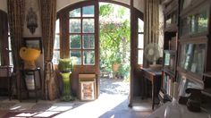 Wander through the French doors into the sunfilled garden.