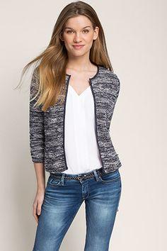 Esprit Striped Knit Blazer
