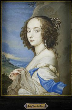Lady Frances Cranfield, Countess of Dorset by John Hoskins after Sir Anthonis van Dyck (Yale University Lewis Walpole Library - New Haven, Connecticut)