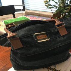 Handmade denim bag spacious jeans bag plenty of space gift Recycle Jeans, Unique Bags, Denim Bag, Artificial Leather, Market Bag, Leather Handle, Strand, Bag Making, Blue Stripes
