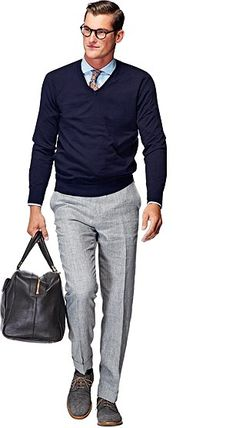 Whether you're sporting one over a chunky sweater or over your suit, quilted vests will be one of your best sartorial weapons this season. Suit Supply, Business Look, Quilted Vest, Gentleman Style, Bleu Marine, Smart Casual, Swagg, Pull, Preppy