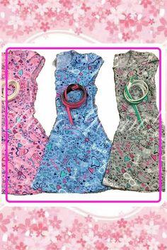 Vestido informal para nena con cinto Primavera Verano Glam girl outfits Glam kids Puro Glam kids