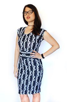 New Black/White DNA dress by Shenova