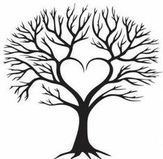 Family tree of the heart - Moja strona http: //jardinier.ml/arbre-genealogique-du-coeur-moja . Family Tree Drawing, Family Tree Art, Family Tree Paintings, Tree Of Life Painting, Tree Tattoo Designs, Tree Designs, Tree Clipart, Tree Svg, Tree Templates