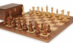Wood Chess Sets with Boards