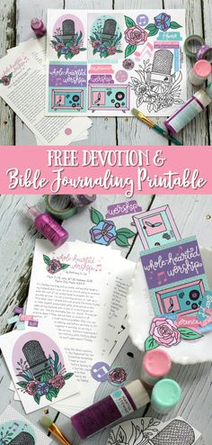 "FREE ""Whole-Hearted Worship"" Devotion + Bible Journaling Printable 