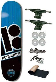 "Plan B P.Rod Baseball 8.0 Complete Skateboard by Plan B. $99.95. Plan B Paul Rodriguez Pro Model Deck Measures 8.0 x 32"". Black Pro V1 5.0 Trucks. White 52mm Pro Wheels. SL Abec 5 Speed Bearings. Black Diamond Grip Tape. Brand New. Save 17%!"