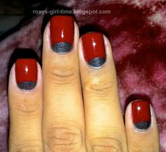 Roxy's Girl Time: NOTD: Reverse French Tip