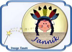Button kleiner  Indianer von Jasuki auf DaWanda.com