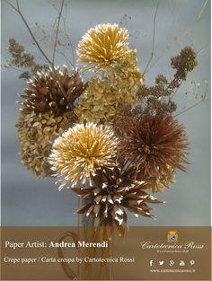 Fiori di Carta Crespa realizzati da Andrea Merendi / Crepe paper flowers made by Andrea Merendi - Carta crespa / crepe paper: Cartotecnica Rossi