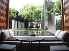 View from the lobby - Picture of Anantara Chiang Mai Resort - Tripadvisor Dive Resort, Resort Spa, Tropical Architecture, Landscape Architecture, Covered Walkway, Resort Villa, Chiang Mai, Modern Luxury, Luxury Villa