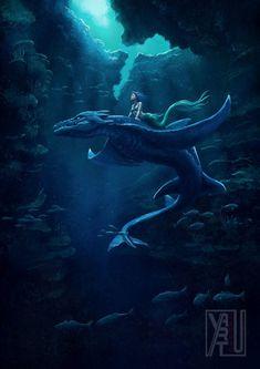 Fantasy Art Fairies Mythical Creatures Deviantart 63 Ideas For 2019 Mythical Creatures Art, Mythological Creatures, Magical Creatures, Fantasy Creatures, Mermaid Drawings, Mermaid Art, Anime Mermaid, Mermaid Paintings, Vintage Mermaid