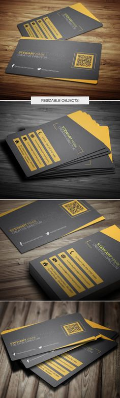 Buy Creative Business Card 053 by samturn on GraphicRiver. A great Business card template for your business company. This card Template is perfect for programmers, IT company,. Business Card Maker, Unique Business Cards, Corporate Business, Business Card Design, Creative Business, Creative Hub, Business Company, Unique Cards, Creative Director
