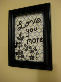 Elegant Black Dry Erase Board by SarahKCreations on Etsy, $8.00  *Marker not included