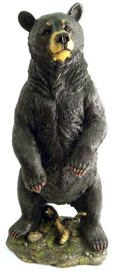 gentle black bear sculpture featuring a standing bear statue in a gentle pose Large Dog Breeds, Large Dogs, Black Bear Decor, Bear Statue, Mother Bears, Sculpture Clay, Pet Birds, Chainsaw Carvings, Wood Carvings
