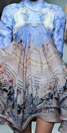 Mary Katrantzou - mixed print fashion inspirations. I would so wear this! I wonder if I could make something similar using scarves from Italy I picked up back in the 90s?