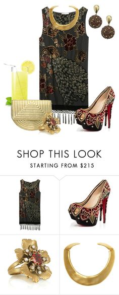 """""""FIESTA"""" by outfits-de-moda2 ❤ liked on Polyvore featuring Kite and Butterfly, Christian Louboutin, Nine West, Bijoux Heart and Kenneth Jay Lane"""