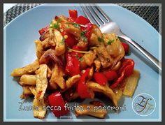Zucca secca fritta e peperoni