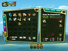 Monkey Quest - User Interface by Eric Bellefeuille, via Behance