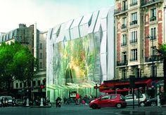 Manuelle Gautrand renueva el Cine Alésia de Paris con cientos de