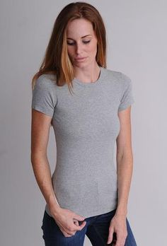 Tops and tees in the Three Dots Fitted Collection are narrower through the body for a slim look. Flat lock stitching adds durability and a unique, sophisticated finish. Three Dots, Back To Basics, Tee Shirts, Tees, Basic Style, Every Woman, V Neck, Slim, Clothes For Women