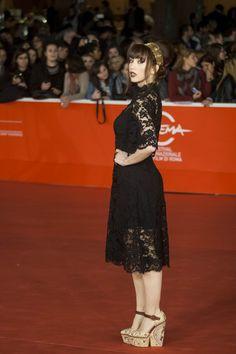 """Chiara Francini wearing Dolce&Gabbana to the Premiere of """"Boccaccio '70' in Rome on November 9, 2013."""