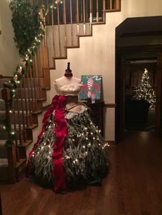 my christmas tree dress 2015 livedress treedress christmastree mannequin christmas tree dress