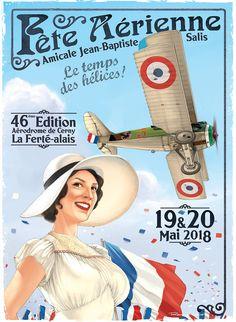 Vintage Travel Posters, Vintage Airline, Vintage Auto, Jean Baptiste, Fighter Pilot, Silhouette Art, Classic Girl, Aviation Art, Air Show