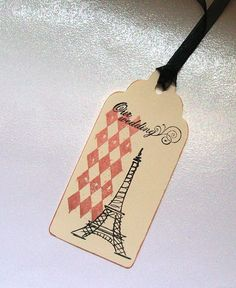 Wedding Wishing Tree Tags - Harlequin Eiffel Tower (set of 50).