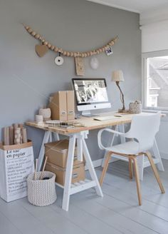 Browse pictures of home office design. Here are our favorite home office ideas that let you work from home. Shared them so you can learn how to work. Home Office Space, Home Office Design, Home Office Decor, Office Ideas, Workspace Design, Small Office, Office Designs, Office Workspace, Office Table