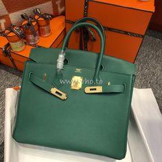 Replica Hermes Birkin 30 35 Malachite Green Togo Leather