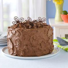 Sandy's chocolate cake. Award winning cake and frosting recipe