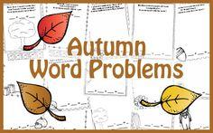Autumn/Fall Word Problems (adition & substraction 1-20) Probleme de matematica - toamna (adunari si scaderi 1-20)